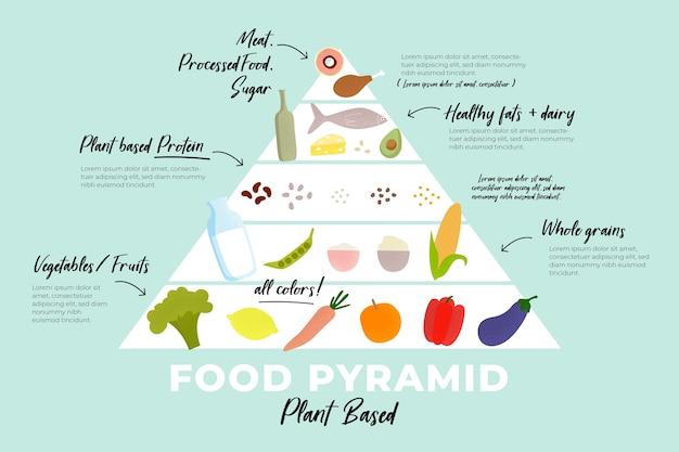 Szablon Infografikę Piramidy żywności Darmowych Wektorów