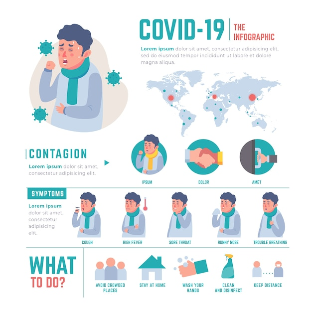 Szablon Infografiki Koronawirusa Darmowych Wektorów