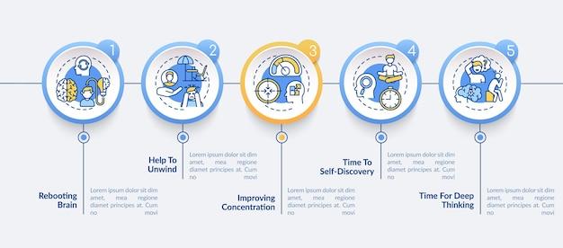 Szablon Infografiki Korzyści Czasowych Dla Mnie Premium Wektorów