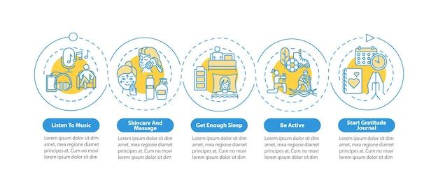 Szablon Infografiki Praktyk Samoopieki Premium Wektorów