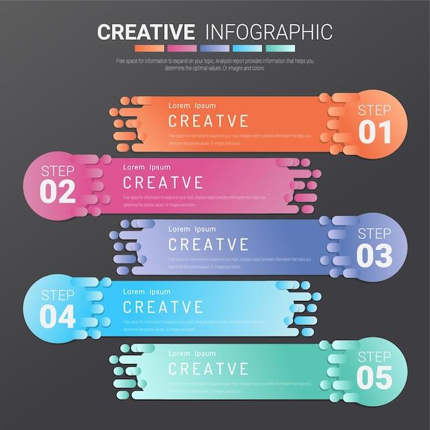 Szablon Infografiki Prezentacji Premium Wektorów
