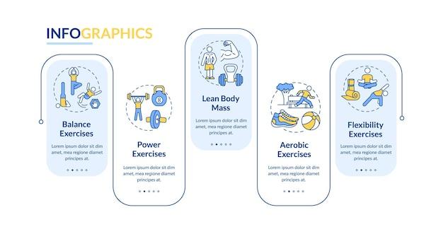 Szablon Infografiki Treningu Mięśni Premium Wektorów
