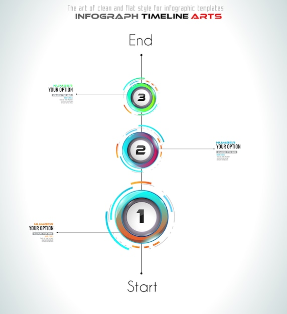 Szablon infograph z trzema opcjami Premium Wektorów