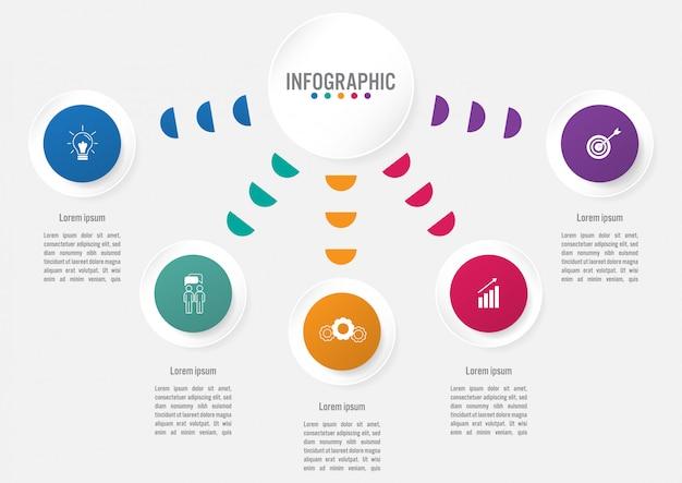 Szablon Infographic Biznesu Premium Wektorów
