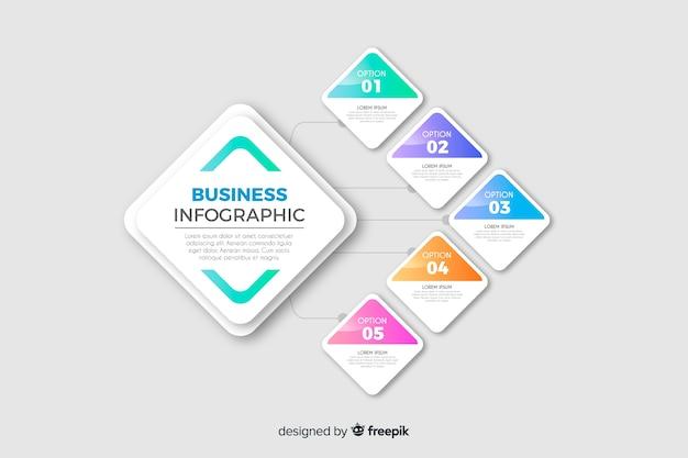 Szablon infographic biznesu Darmowych Wektorów