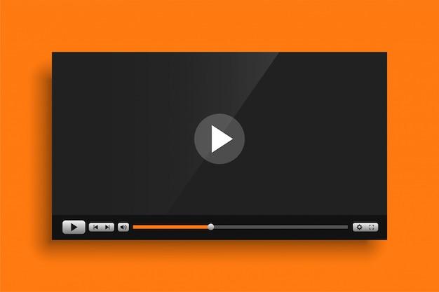 Szablon Interfejsu Odtwarzacz Multimedialny Wideo żółty Motyw Darmowych Wektorów