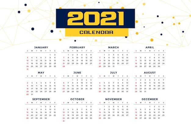 Szablon Kalendarza Nowego Roku W Nowoczesnym Stylu Darmowych Wektorów