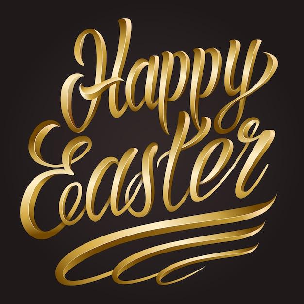 Szablon Kaligraficzna Wesołych świąt Wielkanocnych Darmowych Wektorów