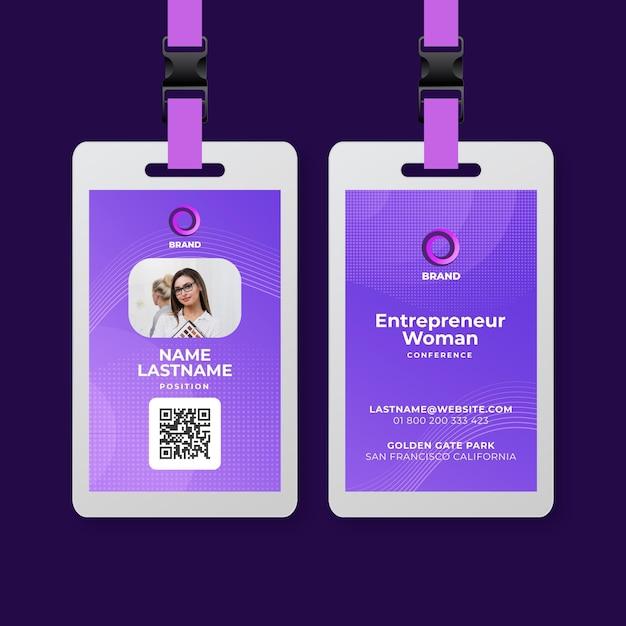 Szablon Karty Identyfikacyjnej Interesu Premium Wektorów