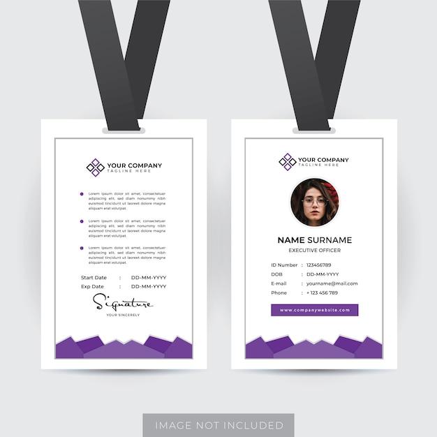 Szablon Karty Identyfikacyjnej Pracownika Premium Wektorów