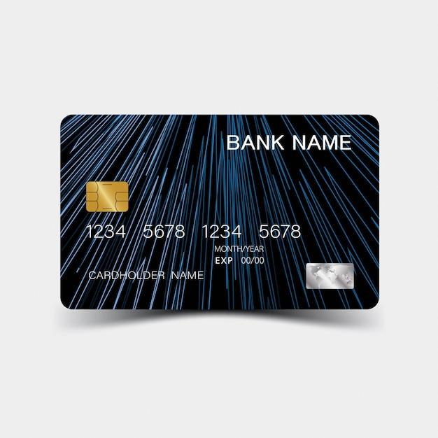 Szablon karty kredytowej niebieski Premium Wektorów