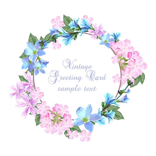 Szablon karty kwiatowej Darmowych Wektorów