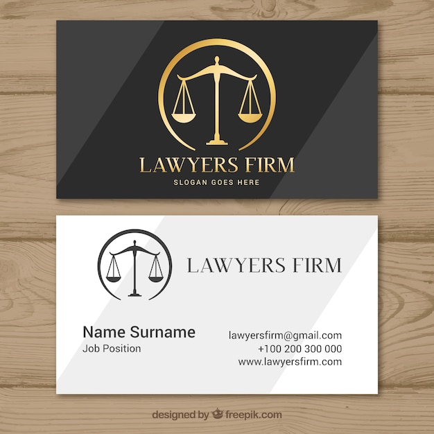 Szablon karty prawnika Darmowych Wektorów