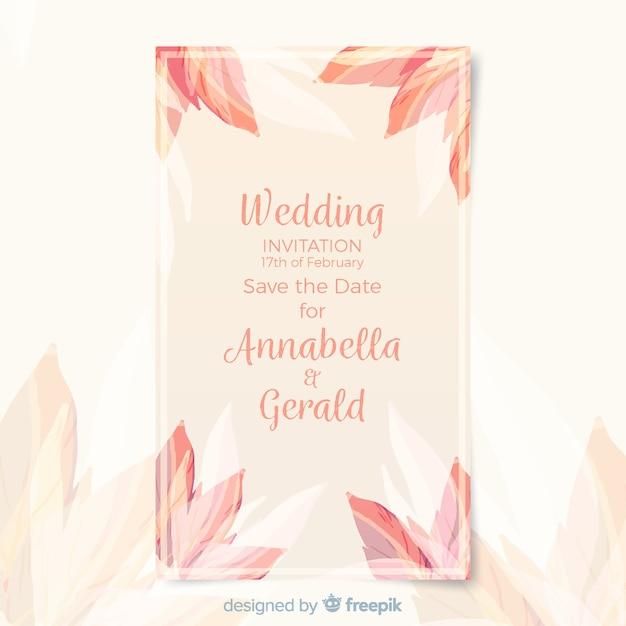 Szablon karty ślubu Darmowych Wektorów