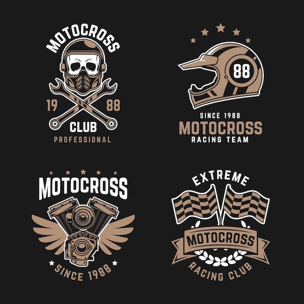 Szablon Kolekcji Logo Motocross Darmowych Wektorów
