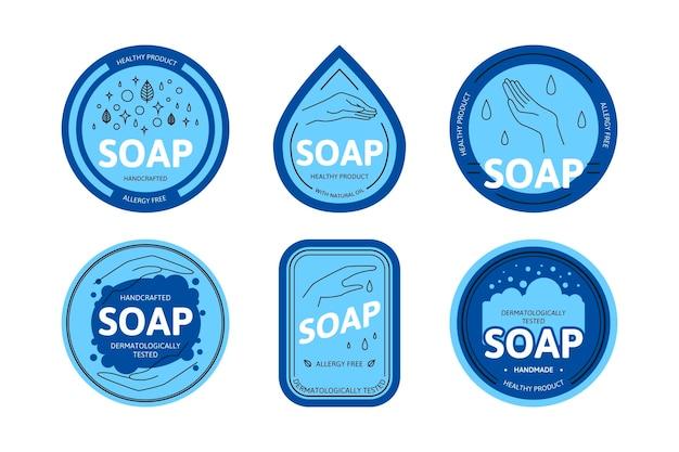 Szablon Kolekcji Logo Mydła Darmowych Wektorów