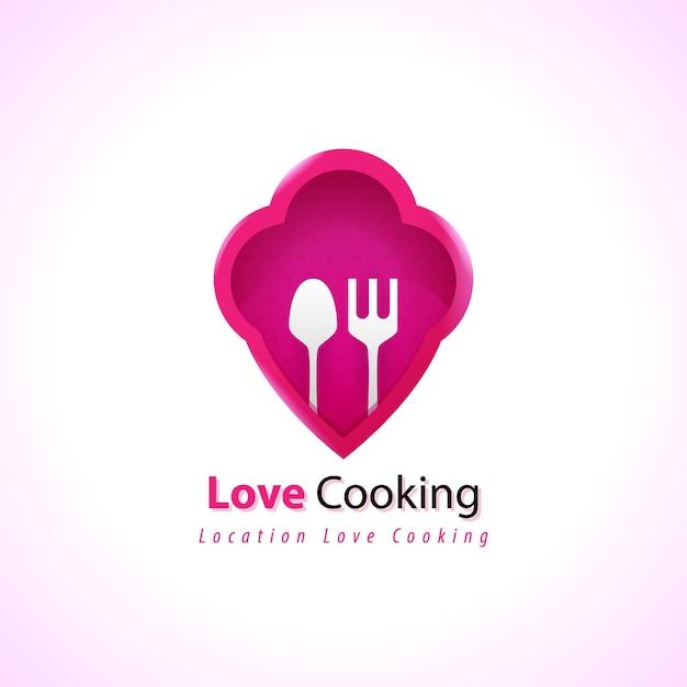 Szablon Koncepcji Gotowania Szefa Kuchni Premium Premium Wektorów