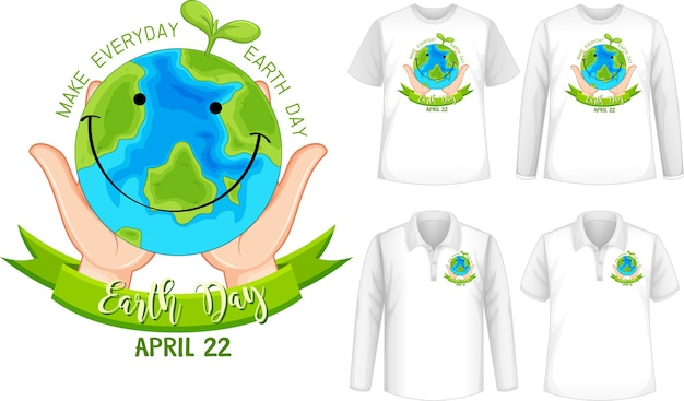 Szablon Koszuli Z Ikoną Planety Darmowych Wektorów