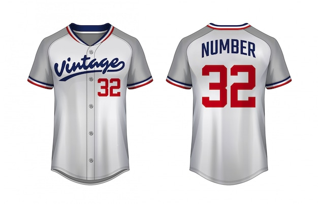 Szablon koszulki baseballowej Premium Wektorów