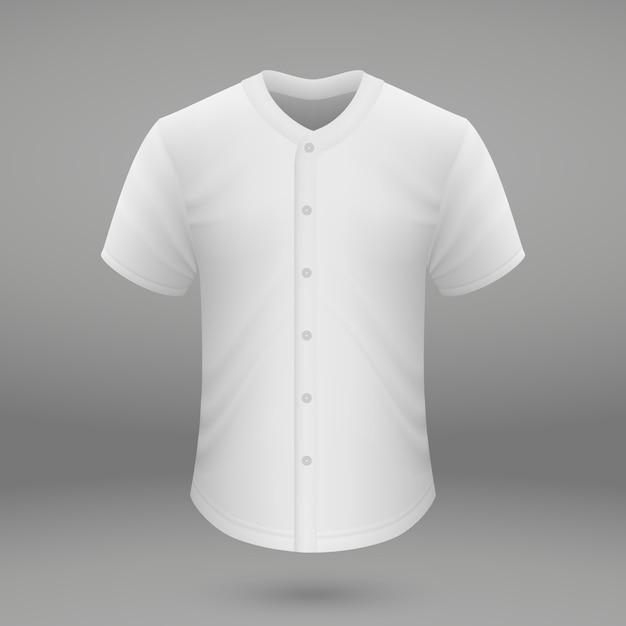 Szablon koszulki do koszulki baseballowej Premium Wektorów
