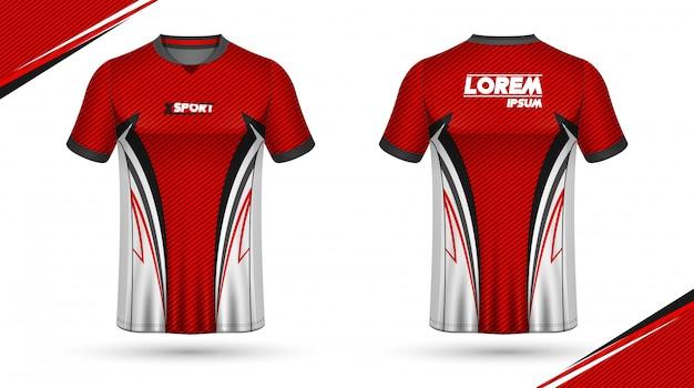 Szablon koszulki piłkarskie Premium Wektorów