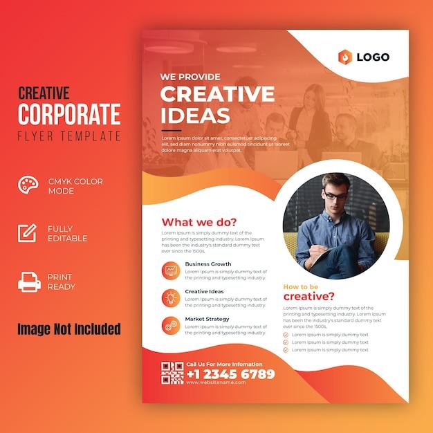 Szablon Kreatywnych Ulotek Korporacyjnych Premium Wektorów