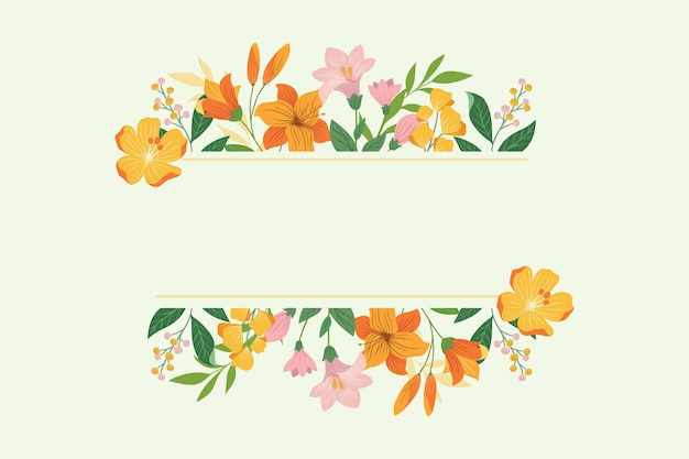 Szablon Kwiatowy Ramki Premium Wektorów