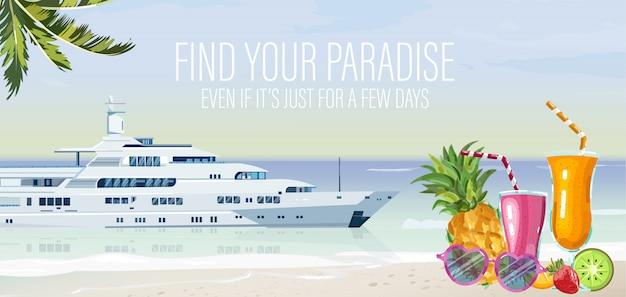 Szablon łodzi podróżnej Premium Wektorów