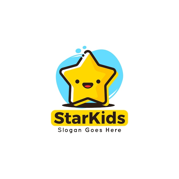 Szablon Logo Cute Maskotka Szablon Dla Dzieci Premium Wektorów