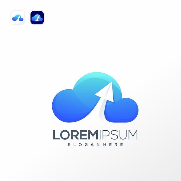 Szablon Logo Danych W Chmurze Premium Wektorów