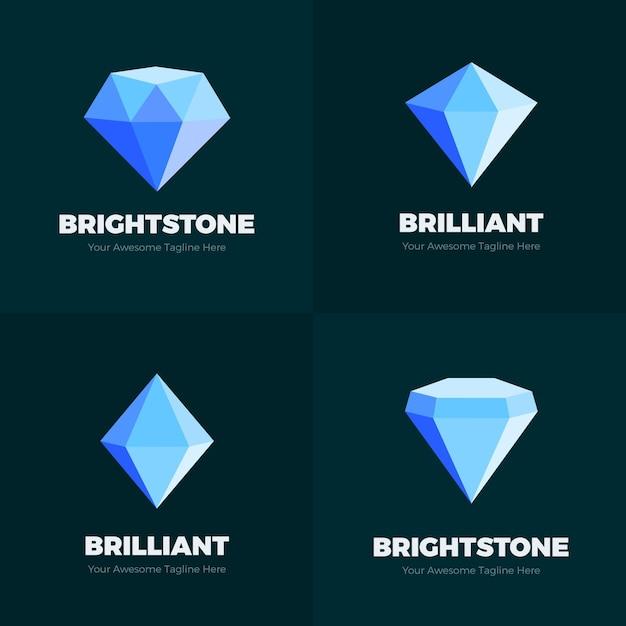Szablon Logo Diamentu Premium Wektorów