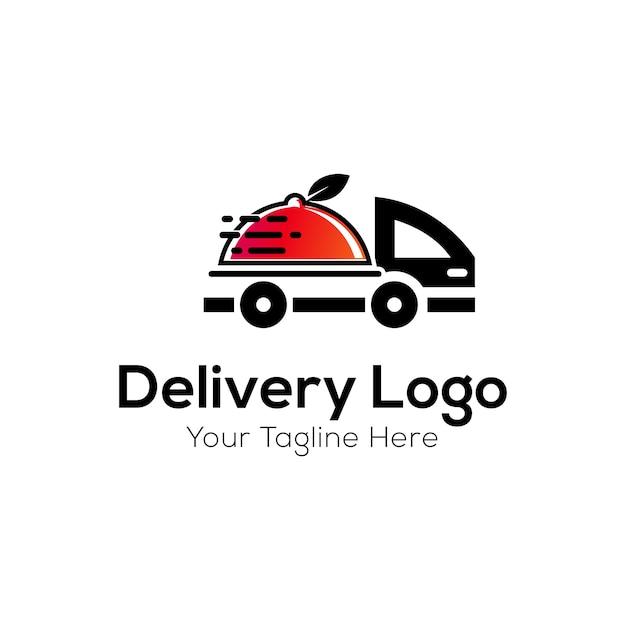 Szablon logo dostawy Premium Wektorów