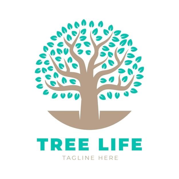 Szablon Logo Drzewa życia Z Hasłem Darmowych Wektorów