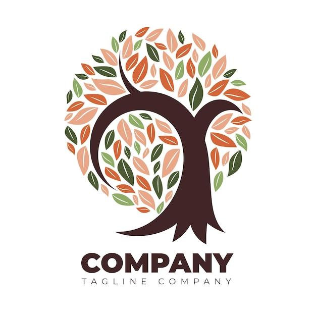 Szablon Logo Drzewa życia Premium Wektorów