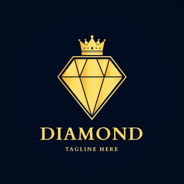 Szablon Logo Elegancki Diament Premium Wektorów