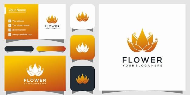 Szablon Logo Elegancki Kwiat Lotosu Premium Wektorów