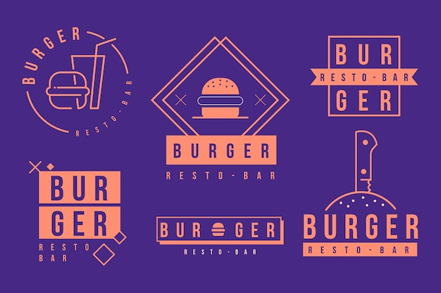Szablon logo firmy burger fast food Darmowych Wektorów