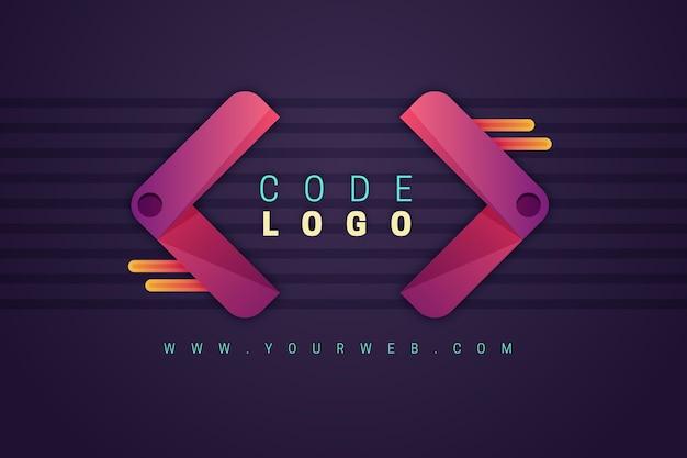 Szablon Logo Firmy Programowania Gradientu Darmowych Wektorów