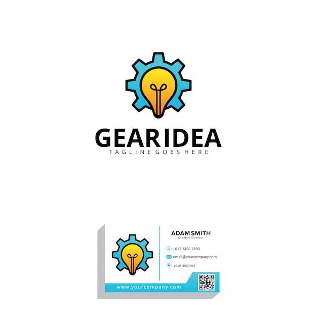 Szablon Logo Gear Idea Premium Wektorów