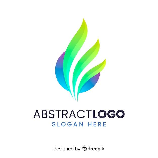 Szablon logo gradientu o abstrakcyjnym kształcie Darmowych Wektorów