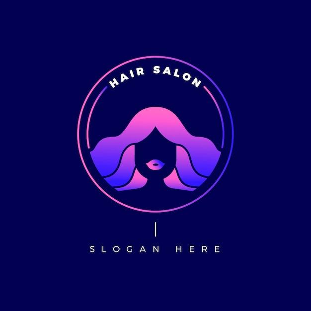 Szablon Logo Gradientu Salon Fryzjerski Darmowych Wektorów