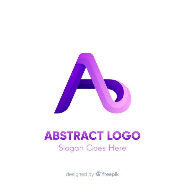 Szablon logo gradientu z abstrakcyjnym kształcie Darmowych Wektorów