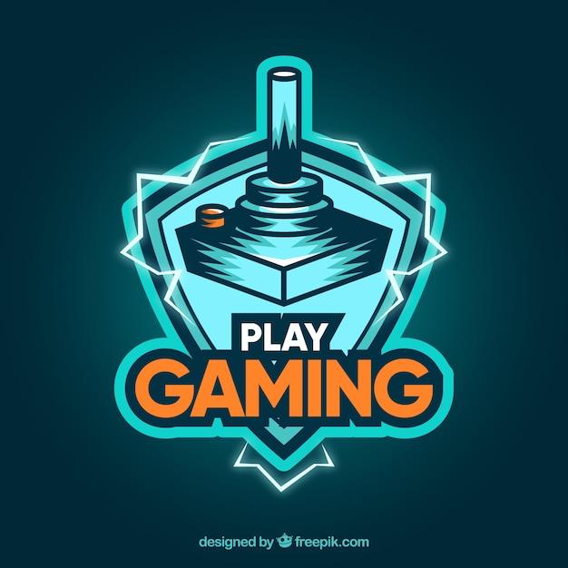 Szablon logo gry wideo w nowoczesnym stylu Darmowych Wektorów