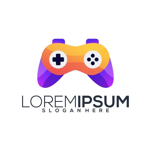 Szablon Logo Gry Wideo Premium Wektorów