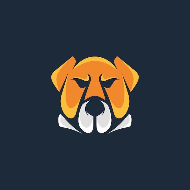 Szablon Logo Head Bull Dog Premium Wektorów