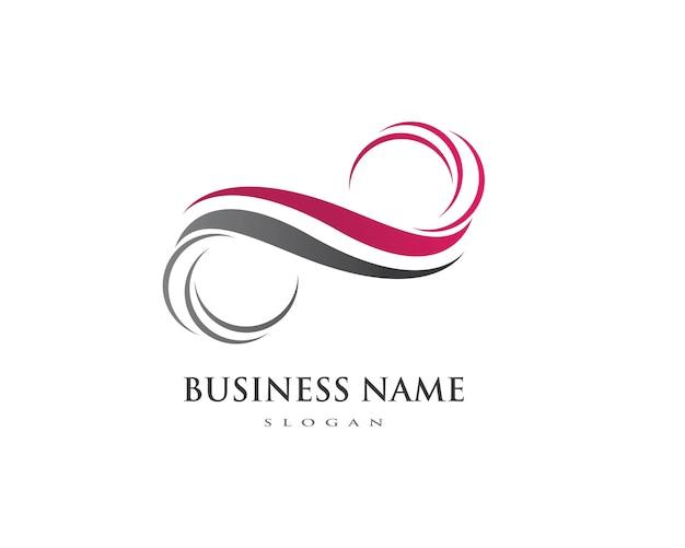 Szablon Logo Infinity Premium Wektorów