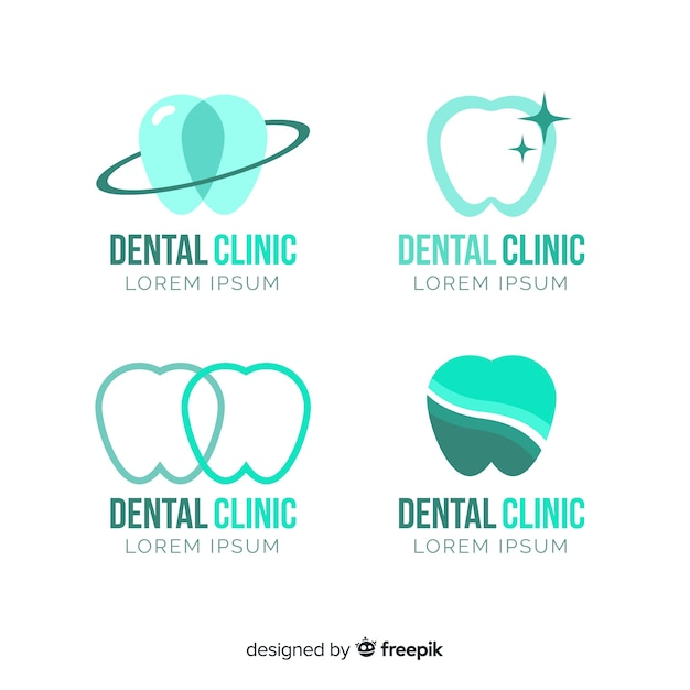 Szablon logo kliniki stomatologicznej Darmowych Wektorów