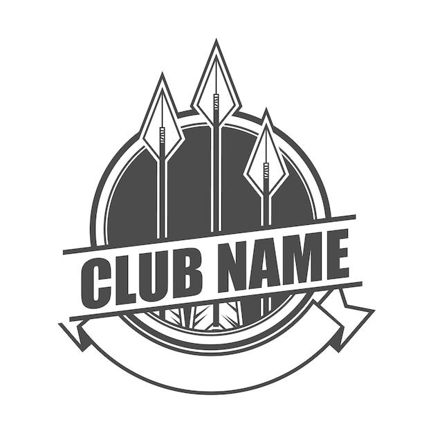 Szablon Logo Klubu Strzałek Premium Wektorów