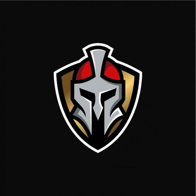 Szablon logo knight warrior Premium Wektorów