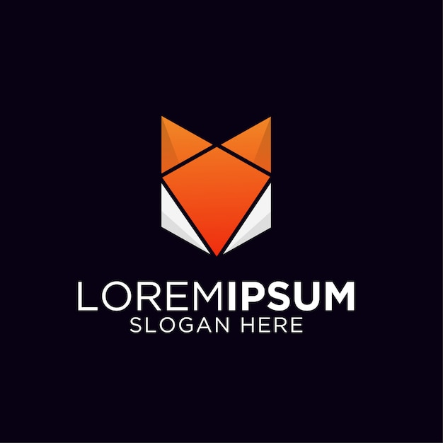 Szablon Logo Kolorowe Lis Gradientu Premium Wektorów